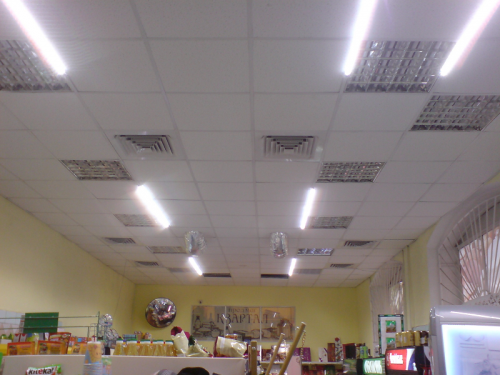Освещение в магазине сети мини маркетов «Квартал»