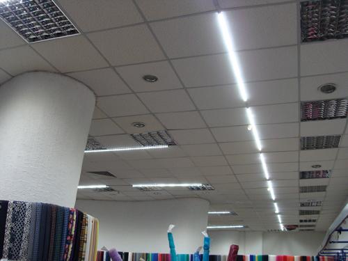 Освещение магазина тканей